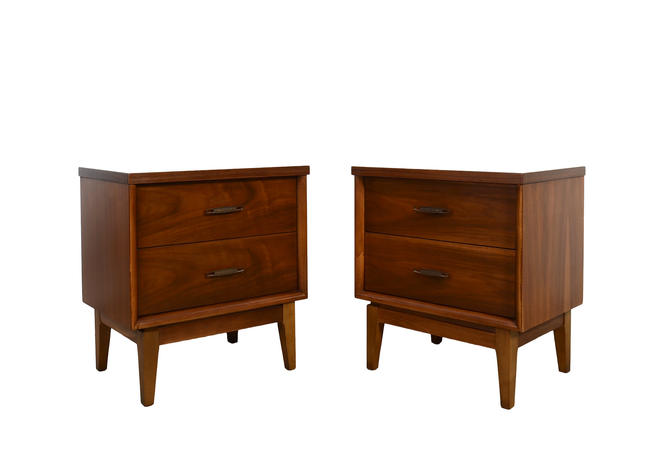 Walnut Nightstands Mid Century Modern by HearthsideHome