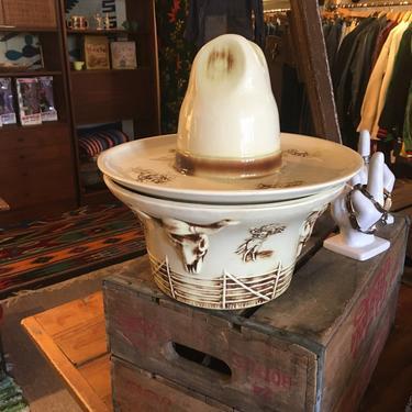 Vintage McCoy Cowboy Hat Cookie Jar- MINT by bcdrygoods