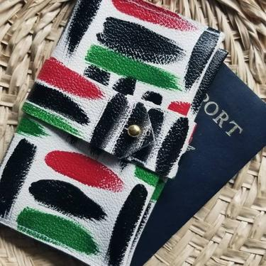 Leather Passport Cover - Omi Pan-African by rkitekt