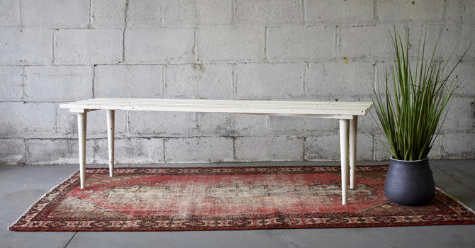 Mid Century MODERN Slat BENCH / Coffee TABLE by CIRCA60