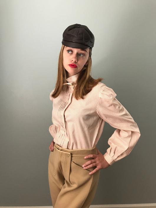 Vintage Pinpoint Oxford Striped Shirt by SpeakVintageDC