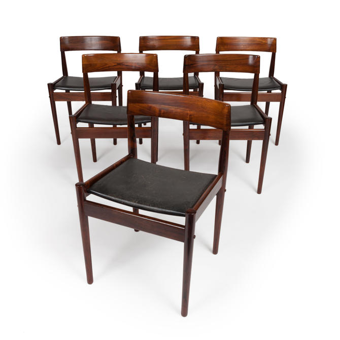 Vintage Grete Jalk Danish Mid Century Rosewood Dining Chairs Set Of 6 By Mcmsanfrancisco