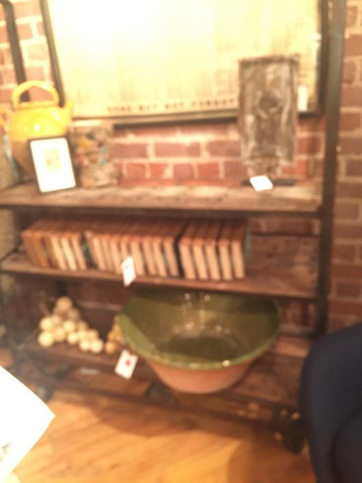 Antique cobblers shoe rack