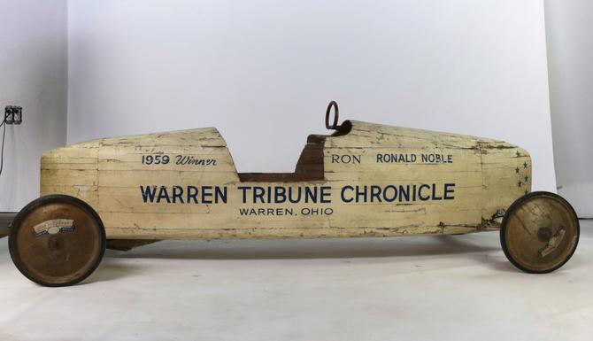 1959 Soap Box Derby Champion Cart - Warren Chronicle Tribune Ronald Noble by BluffStProps