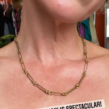Unique Gold Chain Choker Necklace Handmade Jewelry Simple Gifts for Women by LoveItShop