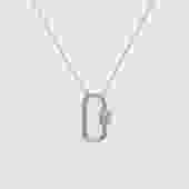 Pave Diamond Vertical Lock Charm