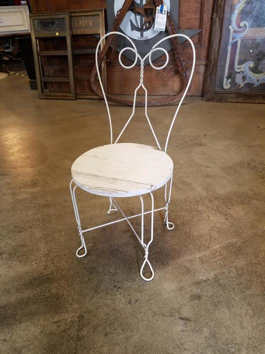 Small Rustic Garden Chair