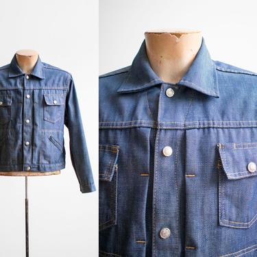 Vintage 1970s Denim Jacket / Medium Wash Denim Jacket / Vintage Jean Jacket / Denim Jacket Small / Lightweight Denim / Montgomery Ward by milkandice