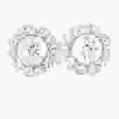 Christian Dior Round Rhinestone Earrings