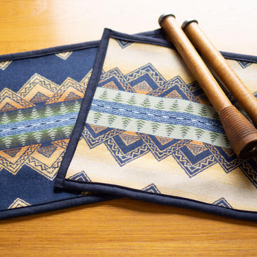 """PLACEMATS with PENDLETON Wool - Handcrafted - American Treasure - 64"""" by CovetModernDesign"""