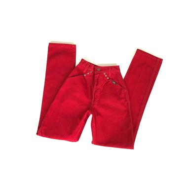 Ozark Mountain Red High Rise Western Jeans / Size 21 22 XXS by NoteworthyGarments