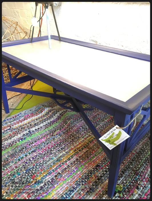 Blue Metal Coffee Table 225 From Tanglewood Works Attic
