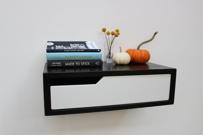 Black Floating Nightstand by ImagoFurniture