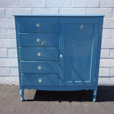 Antique Armoire Closet Dresser Chest Drawers Shabby Chic Traditional Nursery Kids Child Room Console Bedroom Set Storage CUSTOM PAINT AVAIL by DejaVuDecors