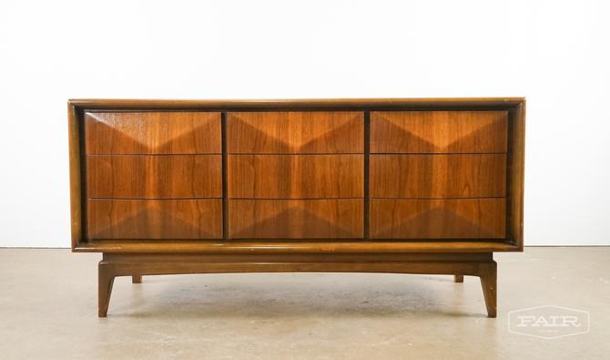 Diamond Front Walnut Dresser
