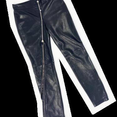 Alexander McQueen F/W 2008 leather zip pants