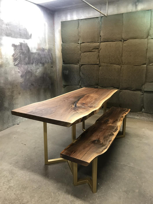Custom Live Edge Dining Table by TheBeardedBowtie