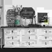 Rustic White Dresser \/ Entryway Piece \/ Under the TV