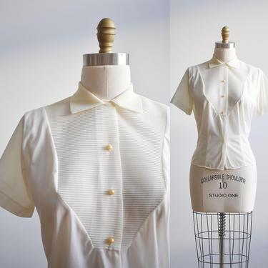 Vintage 1950s Nylon Blouse by milkandice
