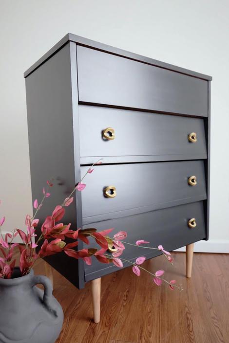 Mid Century Modern Highboy Dresser by madenewdesignct