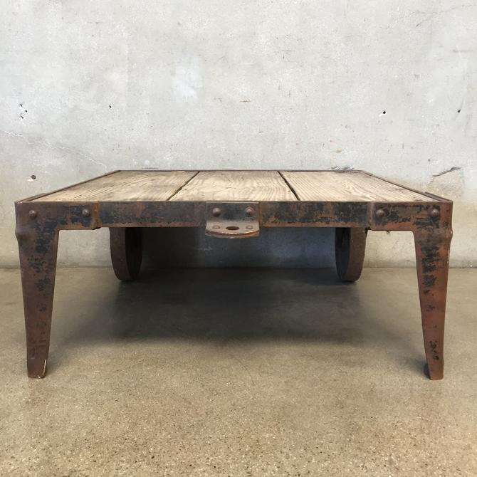 Vintage Industrial Factory Cart Table
