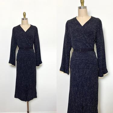 Vintage 1930s Dress 30s Day Dress Rayon Size Small by littlestarsvintage