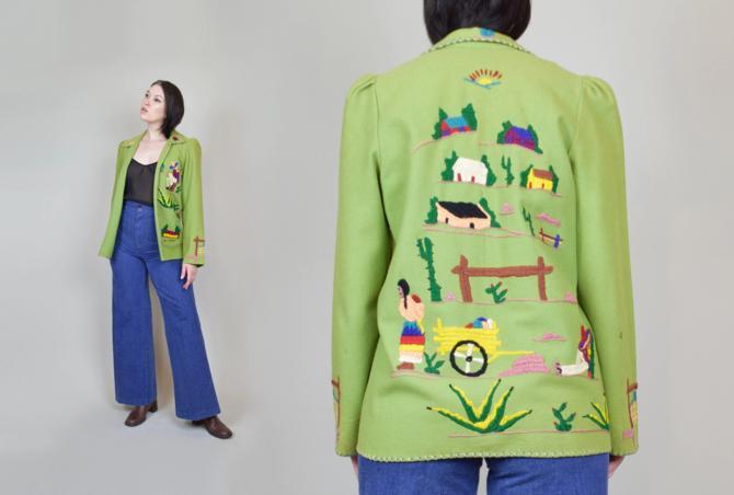 1940's Mexican Souvenir Jacket | Vintage Mexican Tourist Jacket by WisdomVintage