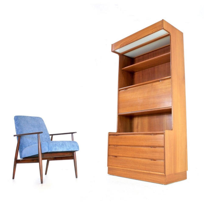 Mid Century Bookcase/Desk Display Unit by Turnidge by SputnikFurnitureLLC