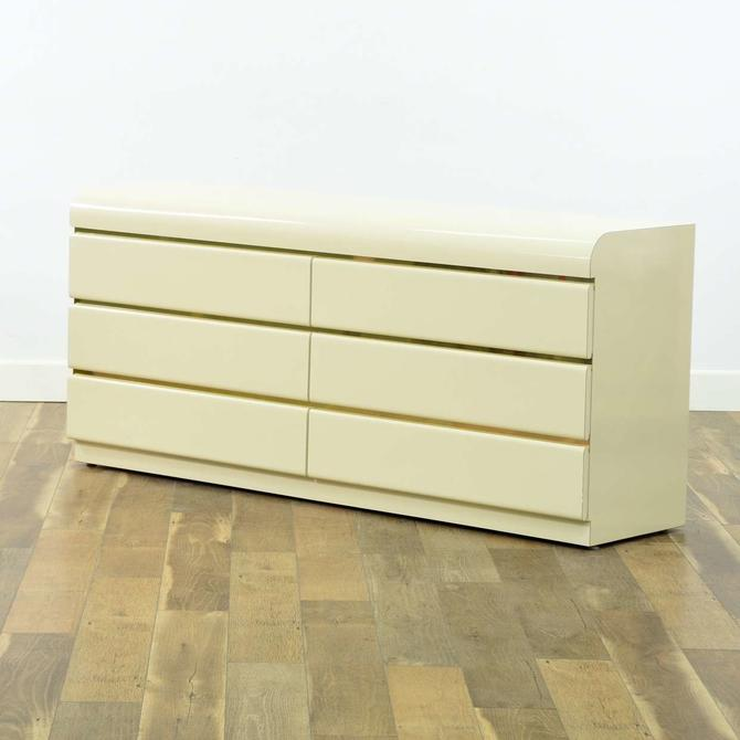 1980S'S Ivory Deco Revival Long Dresser