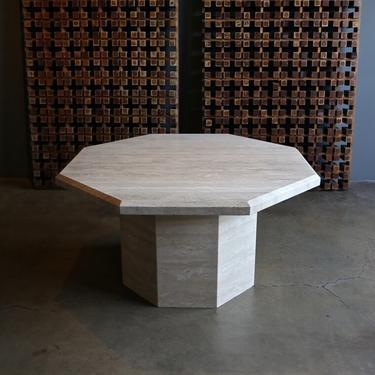 Octagonal Travertine Centre Table, circa 1980