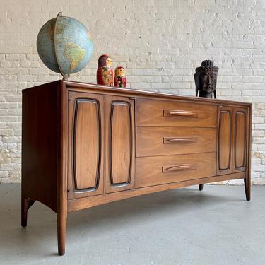 Mid Century MODERN Walnut CREDENZA Dresser by BROYHILL Emphasis by CIRCA60