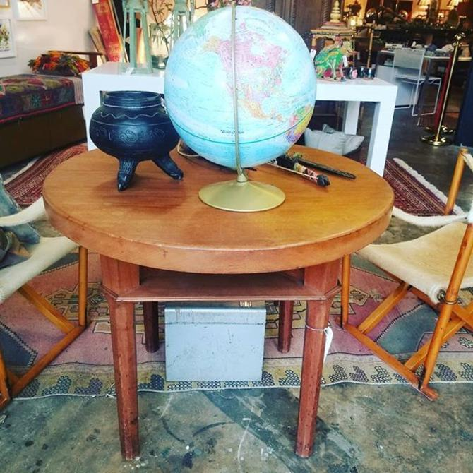Mid Century Round Side Table. $525