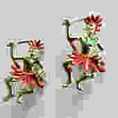 Mid Century Pair of African Warrior Pins by LegendaryBeast