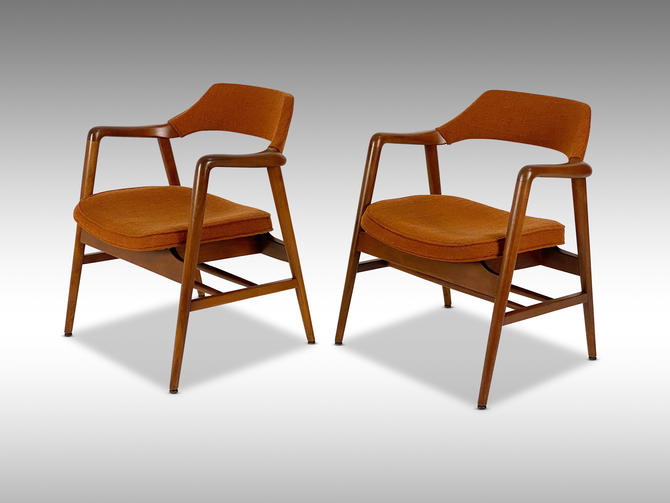 """Gunlocke """"Momentum"""" Armchair (2 available) by Norman Cherner, Circa 1950s - *Please ask for a shipping quote before you purchase. by CoolCatVintagePA"""