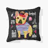 Bonjour Frenchie French Bulldog Pillow