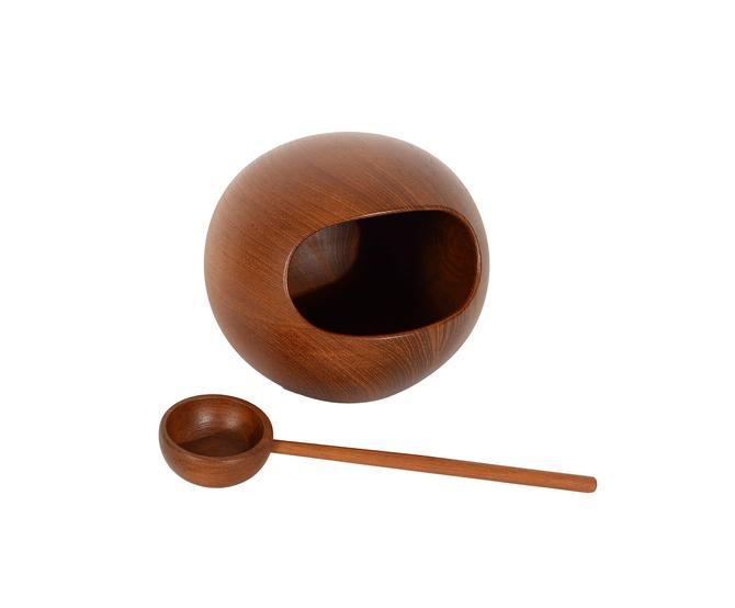 Sowe Teak Nut Bowl Sweden Sowe Konst Nut Orb by HearthsideHome
