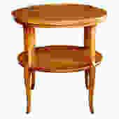 A Stylish 1960's Circular Cherrywood Side/End Table by Widdicomb