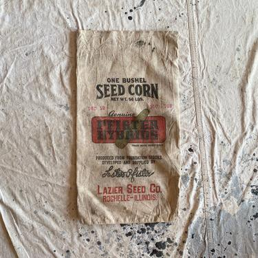 Vintage 1940s Pfister Hybrids Seed Sack Lazier Seed Co Rochelle Il by NorthGroveAntiques