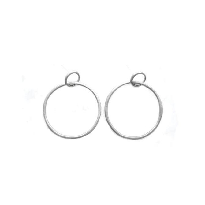 Small Oh Hoops - Silver