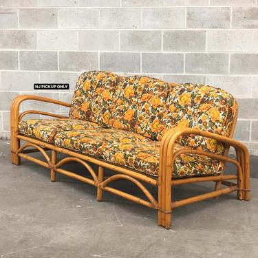 NJ PICKUP ONLY ———— Vintage J.B. Van Sciver Rattan Sofa by RetrospectVintage215