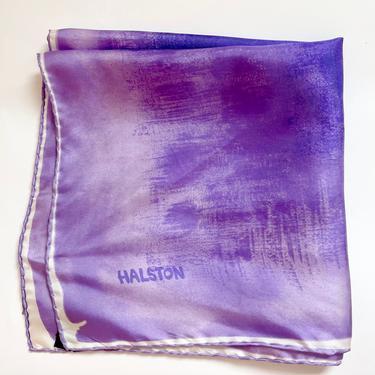 Purple Square Silk Scarf Halston by BeggarsBanquet
