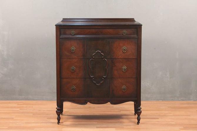 1940s Mahogany 4-Drawer Highboy Dresser – ONLINE ONLY