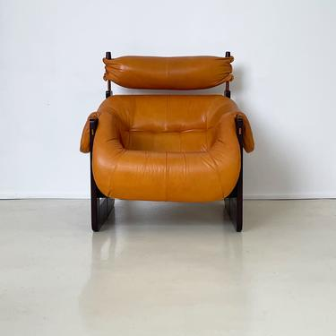 1965 Percival Lafer Brazilian Rosewood and Leather Lounge Chair