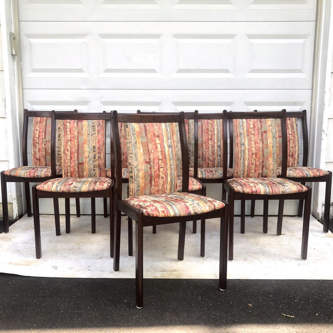 Scandinavian Modern Rosewood Dining Chairs- Set of 8 by secondhandstory