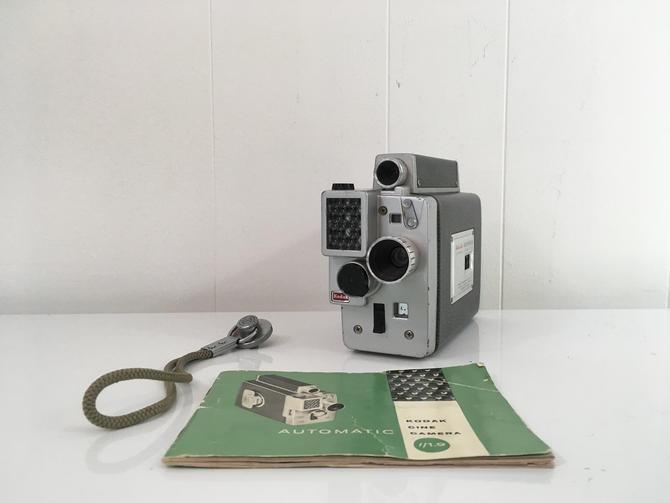 Vintage Kodak Cine Automatic Movie Camera 1950s Made in the USA Film 1960s by CheckEngineVintage