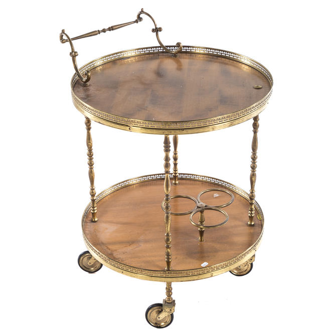 Contemporary Two-tiered Bar Cart