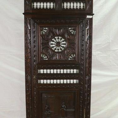 Antique Armoire Wardrobe, French Breton, Single Door Robe Armoire, Coat Closet!!