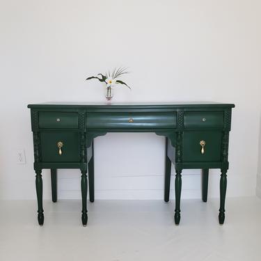 Beautiful emerald green vanity