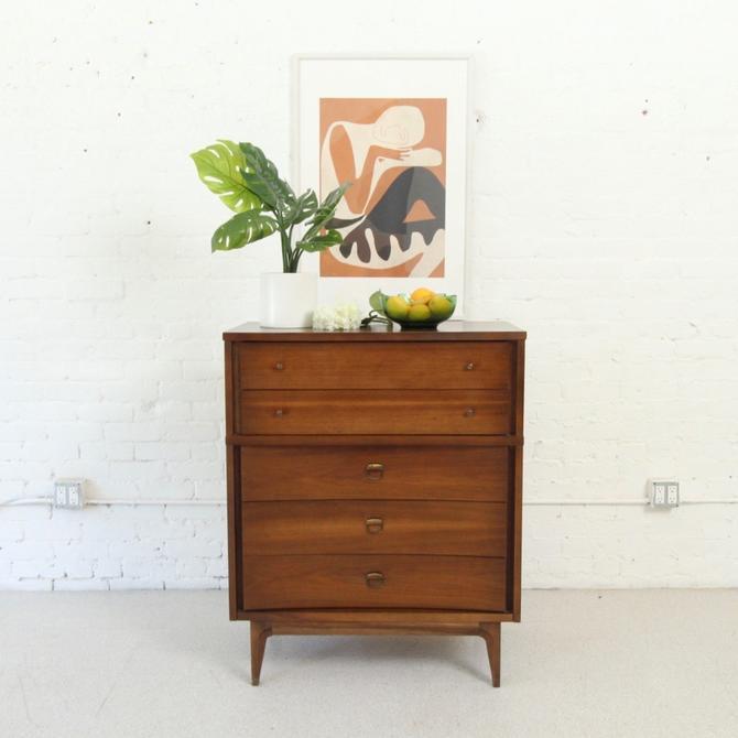 Vintage Mid Century Highboy Formica Top Dresser
