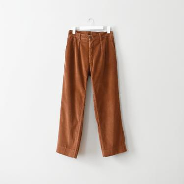 vintage rust corduroy high waisted pants, size XL by ImprovGoods